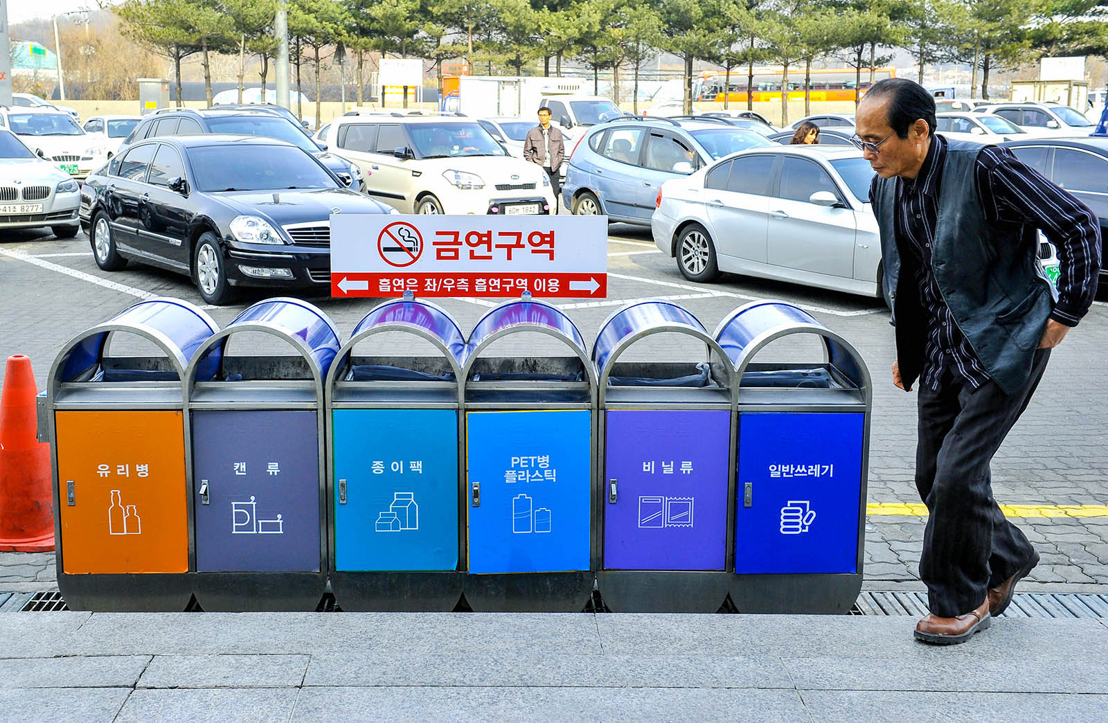 South Korea has the highest recycling rate for recycling among all Asian countries