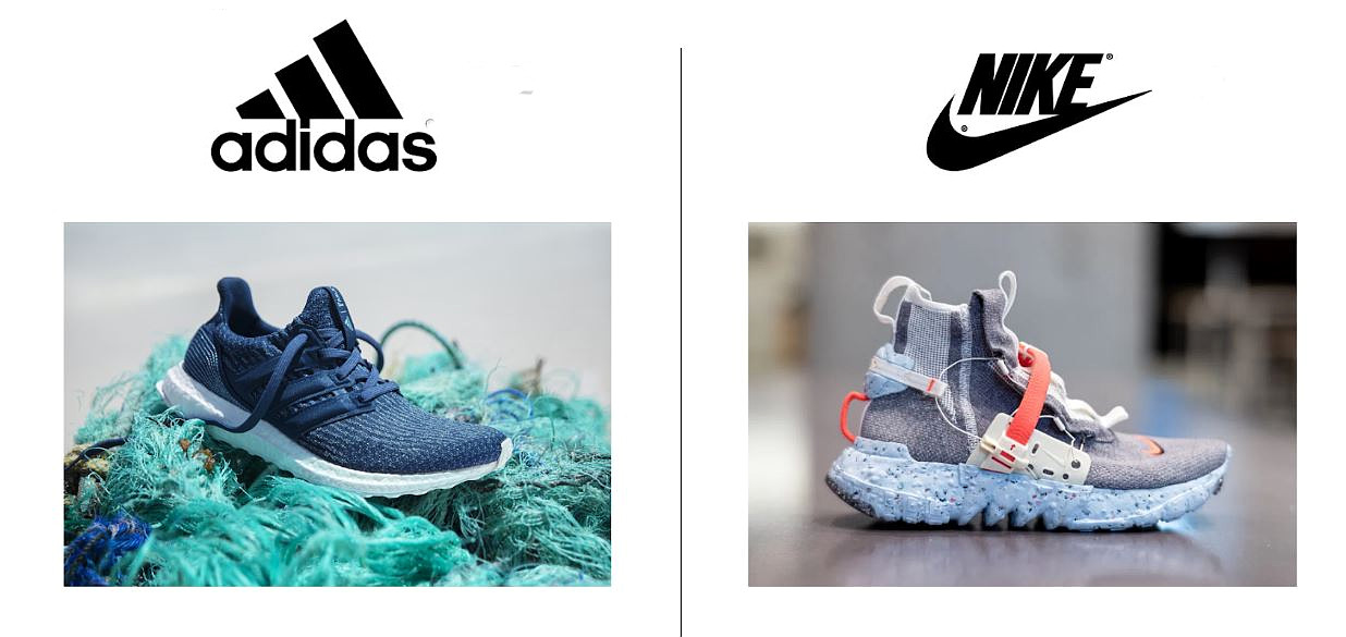 Adidas and Nike's new ocean plastic made shoes