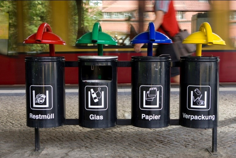 The 4 types of recycling bins in Germany